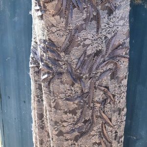 NWT gorgeous silver fiesta gown